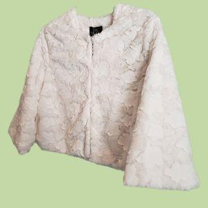 The Moon Faux Fur S textured crop Shrug